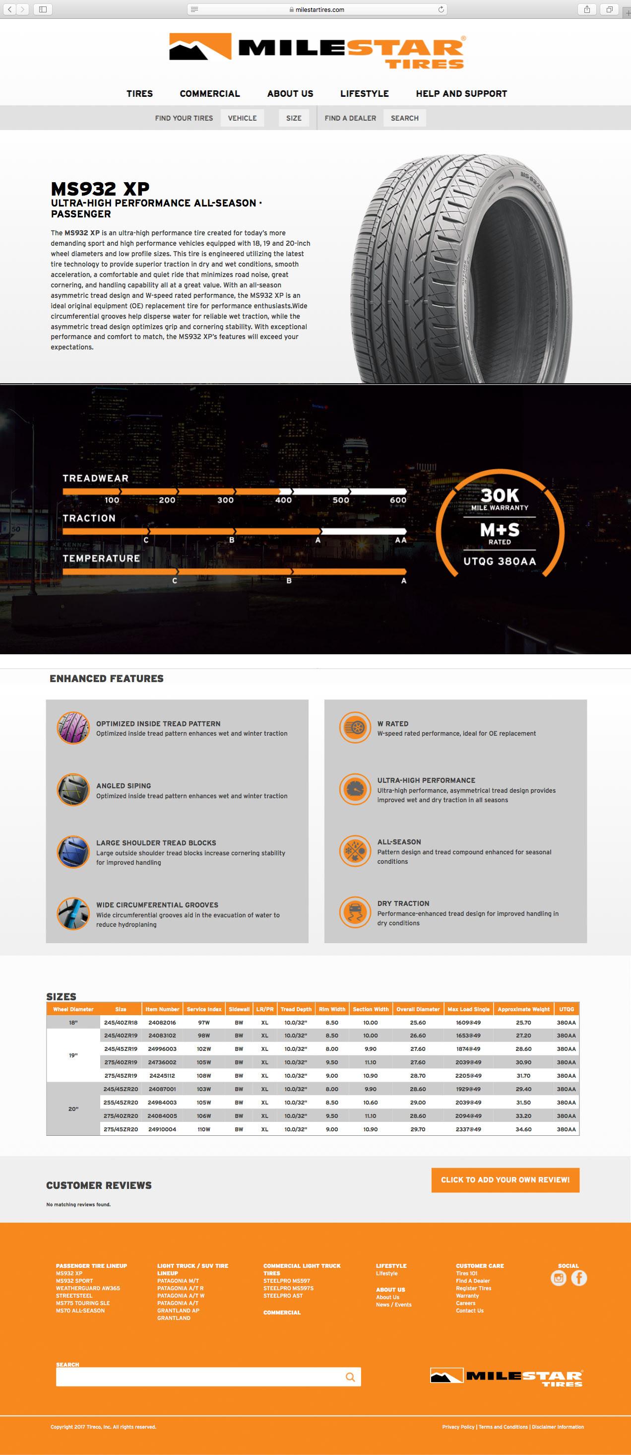 Milestar Website