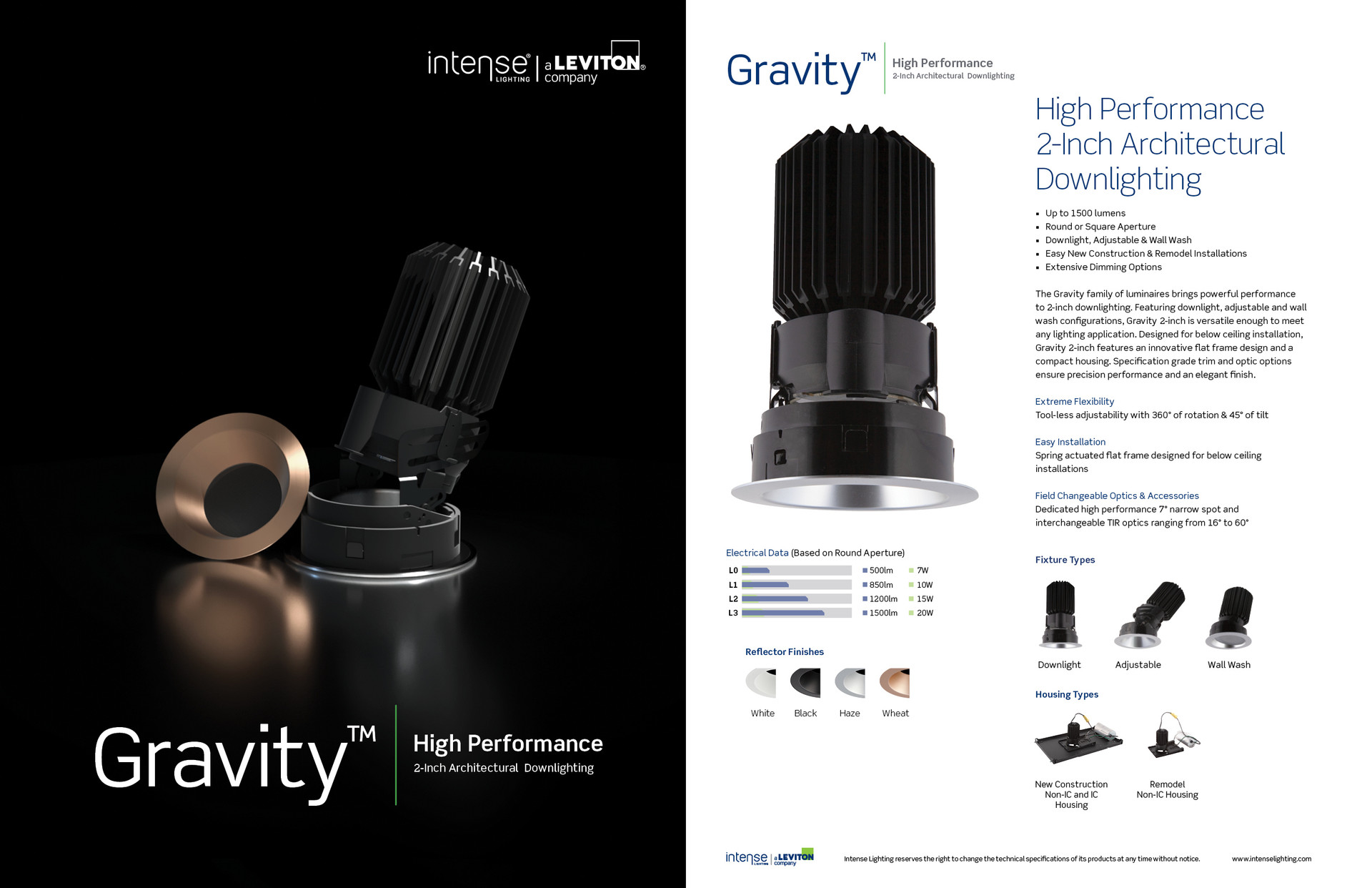 Gravity 2 Inch Product Sell Sheet (Front and back)