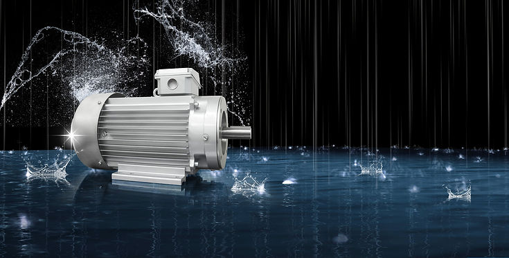 electric motors for the car wash industry