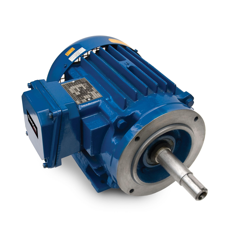 1.5HP, 2P, 3Ph, 208-230/460V 60Hz, 143JP, TEFC, F1, Foot Mounted, Close Coupled Pump Motor