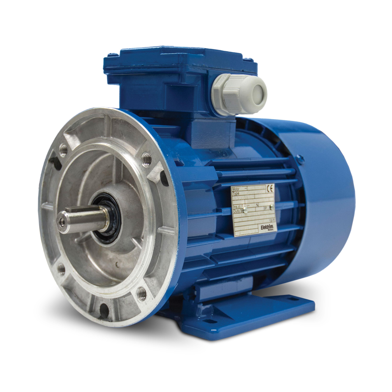 0.08HP, 4P, 3Ph, 230/460V 60Hz, 230/380/400 50Hz , 56, TEFC, F3, C-Face, Metric IEC Motor