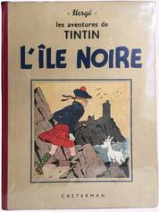 """Album Tintin """"l'Île Noire"""" N/B"""