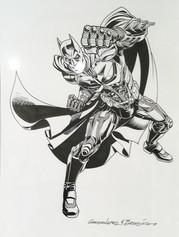 "Lopez Batman ""The Dark Knight Rises"" dessin original"