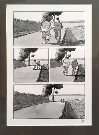 """Baru """"L'autoroute du soleil"""" page 6 planche originale"""