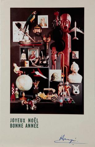 Hergé Carte de vœux de 1969 le musée imaginaire de Tintin