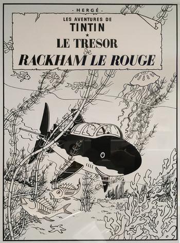 Tintin Le Trésor de Rackham le Rouge