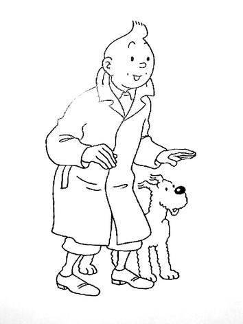 Tintin et Milou en pied