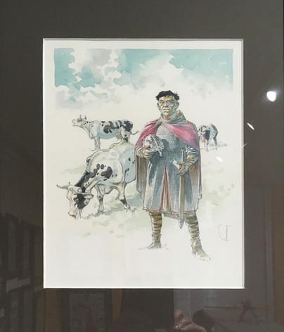 """Herman """"Les tours de Bois-Maury"""" dessin original"""