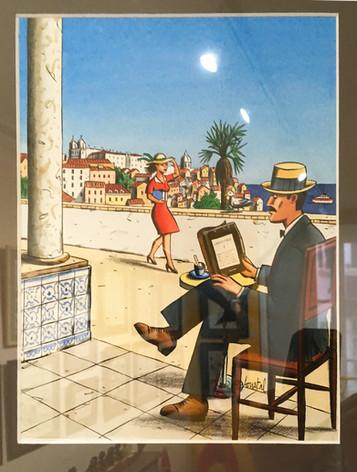 Loustal illustration pour la couverture du magazine Epock dessin original