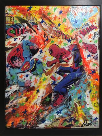 Umberto Alizzi Superman VS Spiderman