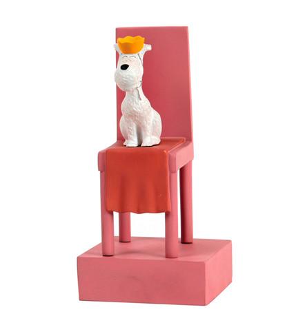 """Milou roi sur le trône """"Tintin au Congo"""""""
