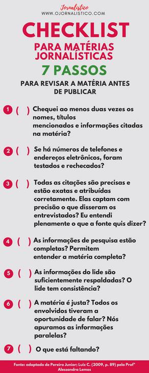 CHECKLIST: 7 Passos para revisar a matéria antes de publicar