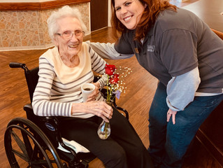Porter's Team Members Celebrate Valentine's Day with Nursing Homes in Local Communities.
