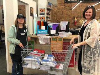 Porter's donates school supplies to Seminole Strong & Operation Blessing