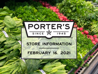 Store Updates | Tuesday, February 16, 2021