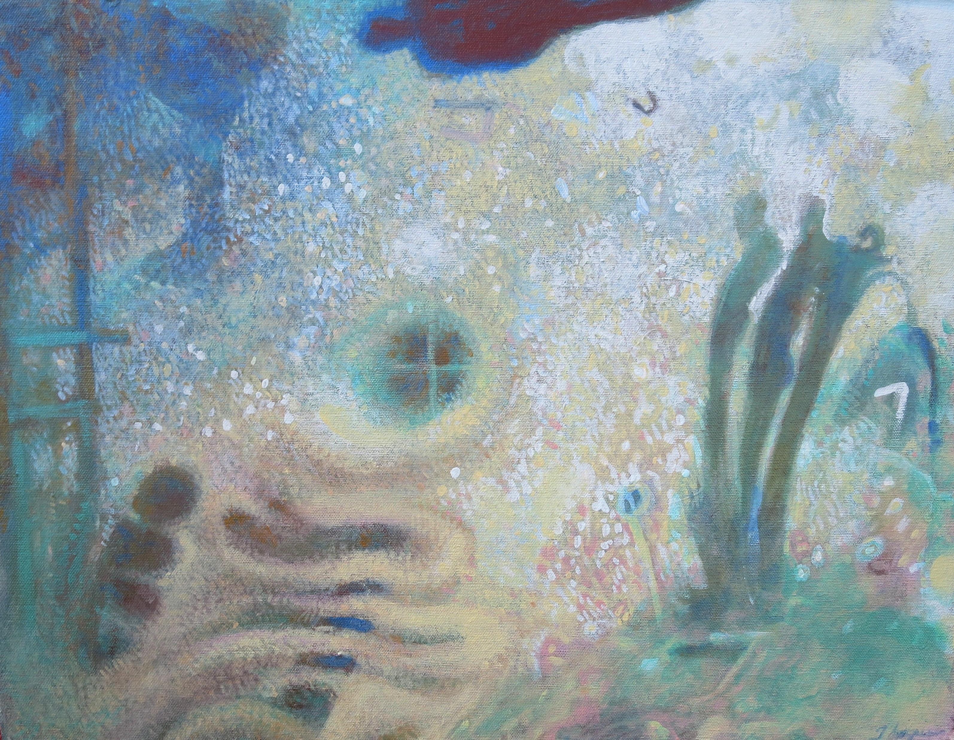 Stars, acrylic on canvas, 16 x 20, 2016