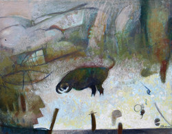 Run, acrylic on canvas, 11 x 14, 2016