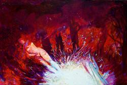 Sky People, acrylic on canvas, 24 x 36, 2007