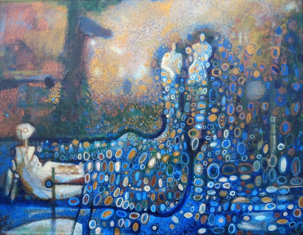 River, acrylic on canvas, 11 x 14, 2016
