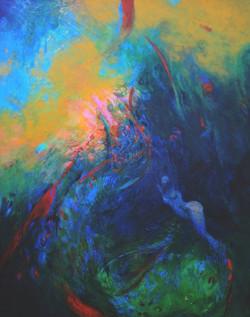 Follow You, Follow Me, acrylic on canvas, 24 x 30, 2015