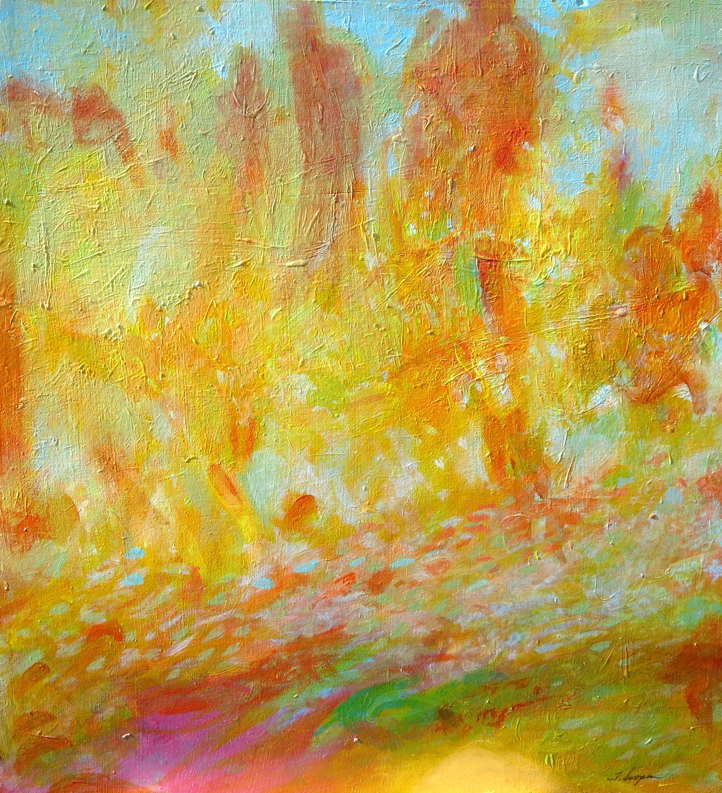 Memory, acrylic on panel, 15 x 15, 2015