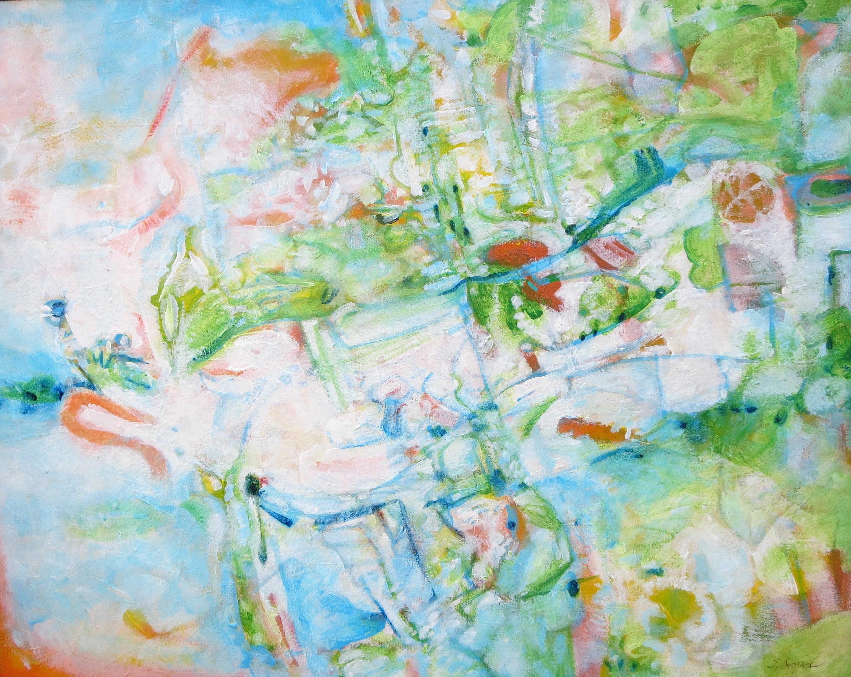 Hills, acrylic on cavas, 16 x 20, 2015