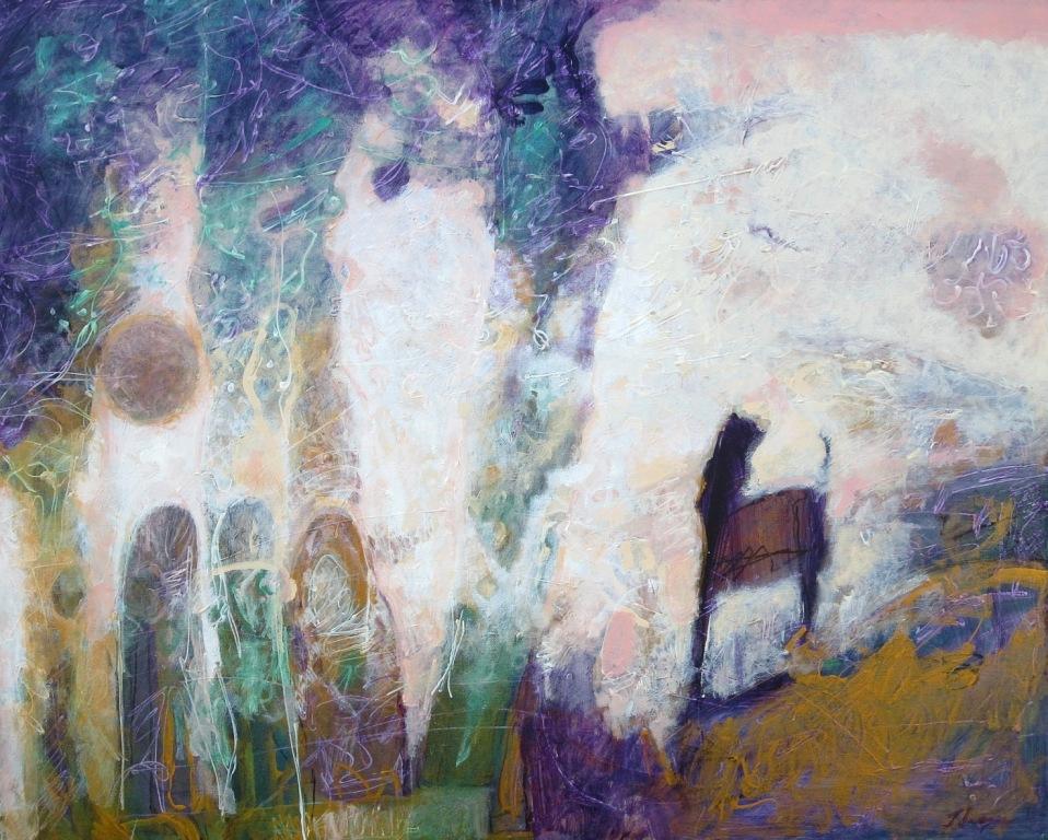 Full Moon, acrylic, 24x30, 2017 SOLD
