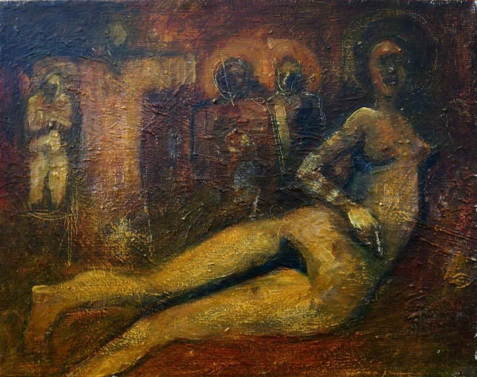 Venus, acrylic on panel, 11 x 14, 2016