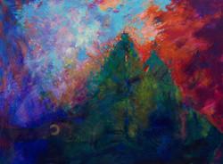 My Long Walk Home, acrylic on canvas, 36 x 48, 2007
