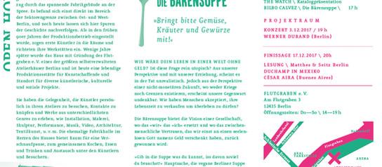 Die Bärensuppe in Berlin ! 3.Dezember am Flutgraben