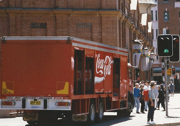 Sydney Australia  coca cola truck