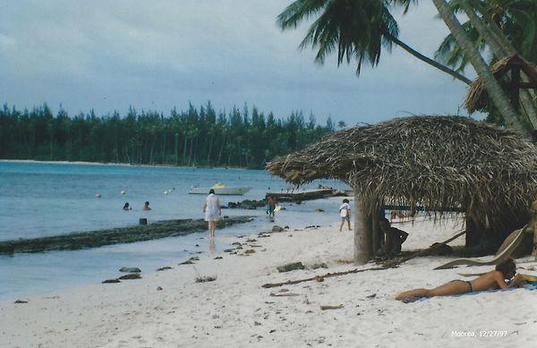 Tahiti woman sun bathing