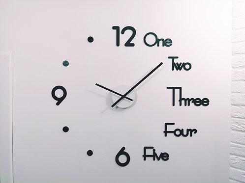 """Большие настенные часы с отдельными цифрами - """"ONE"""""""