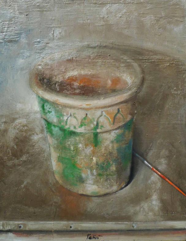 Il vecchio vaso di terracotta
