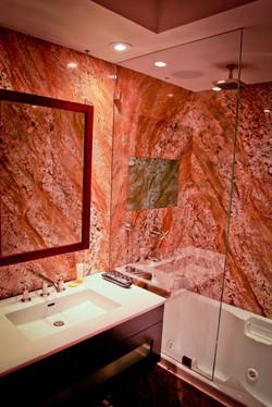 Shower, Flush-Mounted Mirror TV, Off