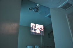 Sconce with Bathroom Mirror TV