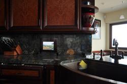 Kitchen with Mirror TV