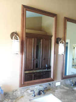 Custom Cabinetry with Mirror TV