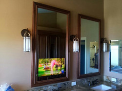 Cabinetry-Mounted Mirror TV
