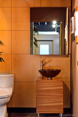 """Naked"" Bathroom Mirror TV, Off"