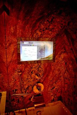 Granite Flush-Mounted Mirror TV, On