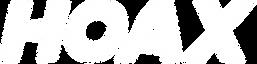 White HOAX logo design font.png