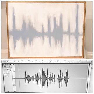 voice sonogram art