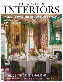 """Featured in the May 2018 issue of Conde Nast """"World Of Interiors"""" magazine"""
