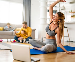 Sport yoga video streaming. Stay home. H