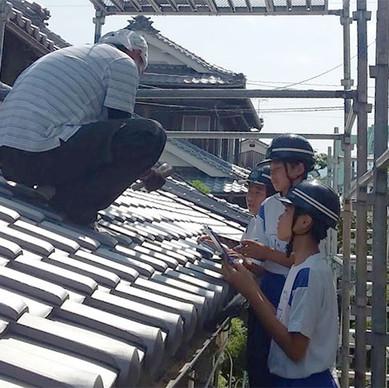 近隣の中学生が、建築グループの職場体験学習にやってきました