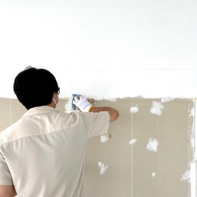 本社の空きスペースを社員の休憩室へリノベーションしました【壁の塗装編】