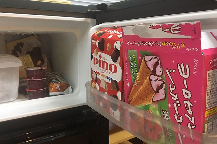 アイスクリームまで用意してくれている福利厚生の良さ、笑