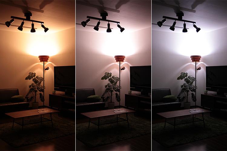 色温度の変更ができるLED電球