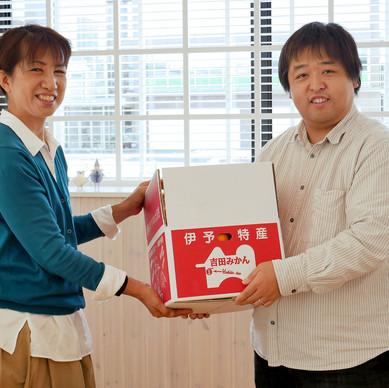 【西日本豪雨災害】支援のお礼に、吉田町のみかんを届けていただきました
